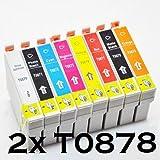2x kompatible Tintenpatrone für Epson Stylus Photo r1900- (matt schwarz