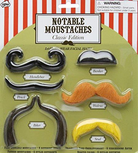 MIK funshopping Kunstbart-Set Notable Mustaches - Classic Edition