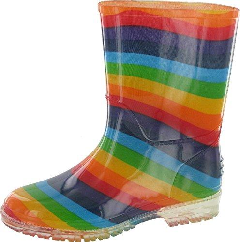 Cotswold ,  Mädchen Arbeits-Gummistiefel Regenbogenfarben