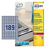 Avery Zweckform, L6008-20, Etichette ultra resistenti in poliestere per prodotti e dispositivi, 20 fogli, 25,5 x 10 mm