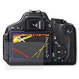 atFoliX Folie für Canon EOS 600D / Rebel T3i Displayschutzfolie - 3 x FX-Antireflex-HD hochauflösende entspiegelnde Schutzfolie