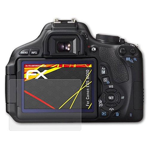 atFoliX Folie für Canon EOS 600D/Rebel T3i Displayschutzfolie - 3 x FX-Antireflex-HD hochauflösende entspiegelnde - T3i Rebel Canon Eos Digital