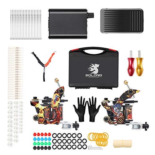 dc64db58d22c WTATTOO Professional Great Beginner Tattoo Kit 2 Machine Guns with Tattoo  Supply