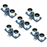 Optimus Electric 5pcs Ultrasonic Range Sensor Detection Module HC-SR04–Medidor de Arduino Compatible with High Noise Immunity, Digital Input/Output Pins and 40Hz Work Frequency from