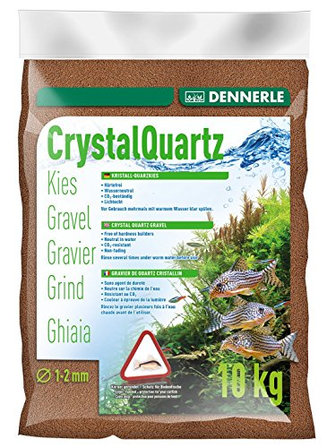 Dennerle 1732 Kristall-Quarzkies, rehbraun, 10 kg