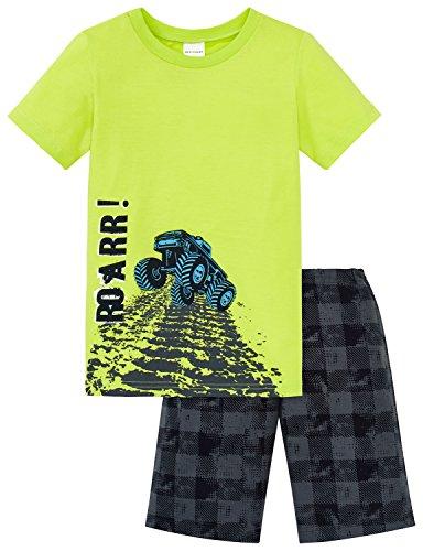 Schiesser Jungen Zweiteiliger Schlafanzug Kn Anzug Kurz, Gelb (Limette 609), 140