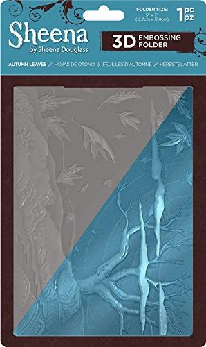 Sheena Douglass 3D-Prägung Ordner 12,7x 17,8cm -Autumn Blätter, 16,5x 18,8x 0,3cm