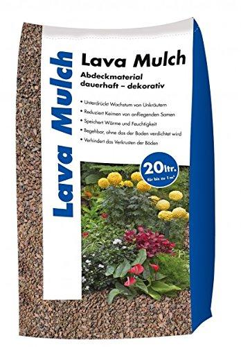 Lava Mulch Rot 16-32 mm 20 Liter Sack