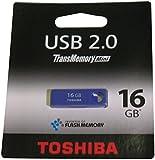 Toshiba THNU16ENSPU(BL5 16GB TransMemory Mini USB 2.0 Flash Drive - Purple