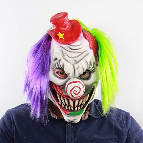 Frmarche Halloween-Clown-Maske Horritiert Geister Clown Horror Dekoration Halloween Cosplay Gesicht
