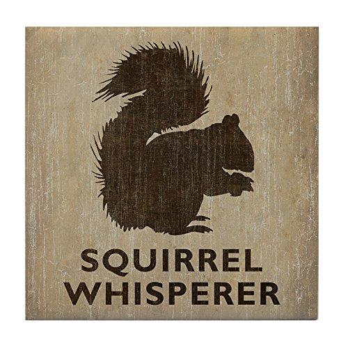 Squirrel Whisperer - Tile Coaster, Drink Coaster, Small Trivet by CafePress ()