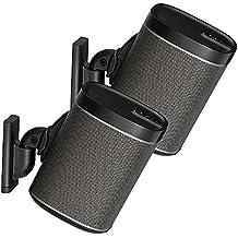'Sanus par ajustable altavoz soporte de pared diseñado para Sonos Play: 1and Play: 3–Negro
