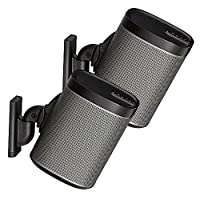 Sanus Pair Adjustable Speaker Wall Mount Designed for SONOS PLAY:1 and PLAY:3 - Black