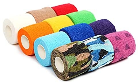 Kenley Bandage Cohésif 5 cm - Bande Elastique Auto-adhésif Flexible