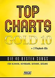 Top Charts Gold 10 (mit 2 CDs): Die 40 besten Songs für Klavier, Keyboard, Gitarre und Gesang (Top Charts Gold / Die 40 besten Songs für Klavier, Keyboard, Gitarre und Gesang)