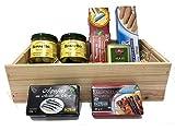 Mallorca Pamboli Set mit weißen Thunfisch, Oliven, Olivenöl, Geschenkset mit Fisch, Präsentkorb