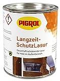 Pigrol Langzeit-Schutzlasur 0,75L antikweiss Holzlasur für alle Hölzer im Außenbereich