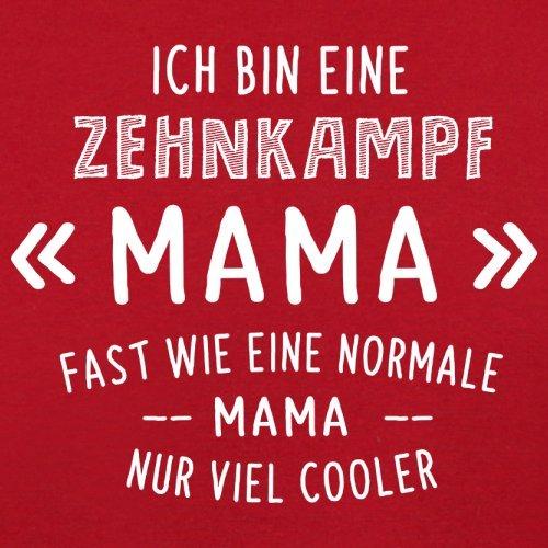 Ich bin eine Zehnkampf Mama - Herren T-Shirt - 13 Farben Rot