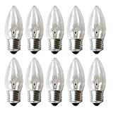 10 x Kerze Glühbirne 25W E27 klar Glühlampe 25 Watt Glühbirnen Glühlampen Kerzen Leuchtmittel