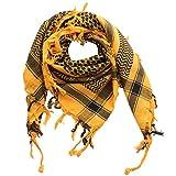 Superfreak® Palituch zweifarbig klassisch°PLO Schal°100x100 cm°Pali Palästinenser Arafat Tuch°100% Baumwolle, Farbe: orange-mandarin/schwarz
