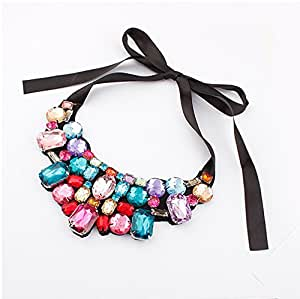 VUMIND collier Collar Necklace Crystal Choker Vintage Pendant Necklace