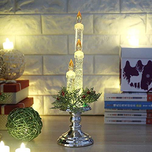 (Amphia Weihnachten Dekoration - Party-Dekoration leichte Kerze zu Hause Flameless elektronische Requisiten, Kerze Ornament)