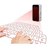 Ultra portatile proiezione virtuale senza fili Bluetooth USB HID Laser tastiera nero