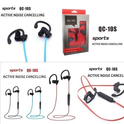 LIMESHOT QC10 Bluetooth Earphone Wireless Headphones for Mobile Phone Sports Stereo Jogger,Running,Gyming Bluetooth Headset Compatible with All Gadgets(Multicolour) Image 3