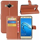 Huawei Y3 (2017) Case,Huawei Y3 (2017) Case,Carry Case Premium PU Leather Wallet Snap Case Carry Case Carry Case Flip Case Compatible With Huawei Y3 (2017) Brown