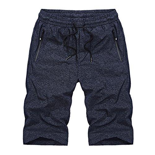WALK-LEADER -  Pantaloncini sportivi  - Basic - Maniche a 3/4 - Uomo Dark Blue