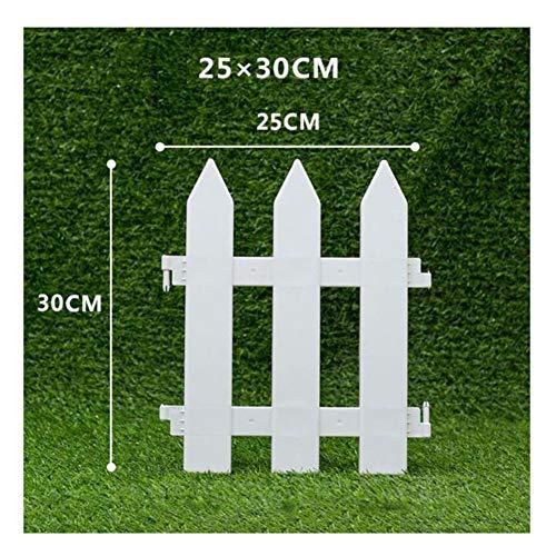 JIANFEI-weilan Holz Zaun Gartentor Gartenzaun Steckzaun Außendekoration Wasserdichtes PVC Blumenbeet Grenze Korrosionsbeständig Weiß, 16 Größen (Color : White, Size : P)