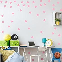 mjatop lunares Ronda círculos pared adhesivos pegatinas pared arte de pared sala de guardería cuarto del bebé, color