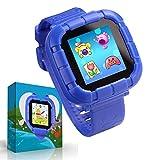 UKpingping Reloj Inteligente con Juegos, Smartwatch para niños, Niños niñas Relojes Inteligentes con cámara Digital Niños Inteligentes Juguetes para niños Regalos Juguetes de Aprendizaje (Azul)