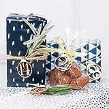 NimbleMinLki Kalender 1-25 Vintage Holz Weihnachten Countdown Advent Zahlen DIY Geschenkanhänger