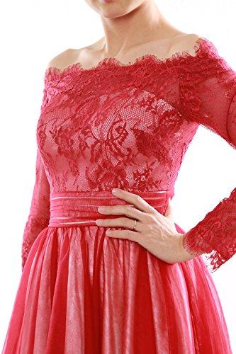 MACloth - Robe - Trapèze - Manches Longues - Femme Violet - Violet