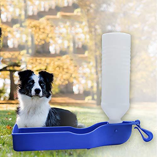 Haustier-Wasser-Drinke, Katze Und Hund Out Mini Kessel, Im Freien Beweglichen Wasserflasche Reisen Hyena Hang Wasserflasche, 500 Ml Große Kapazitäts-Trinkbecher, 27 X 7.2 X7.0 Cm -