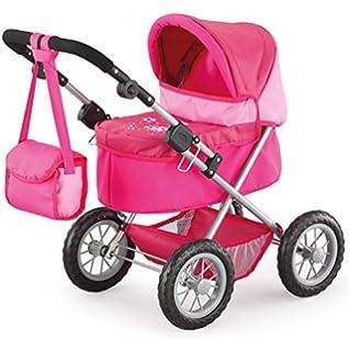 Bayer Puppenwagen Rosa - Design Kinderpuppenwagen Puppen Baby Kinderwagen Born