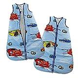 Schlafsack Babyschlafsack Kinderschlafsack Vierjahreszeiten Ärmellos mit Reißverschluss Blau (128-134, Blau)