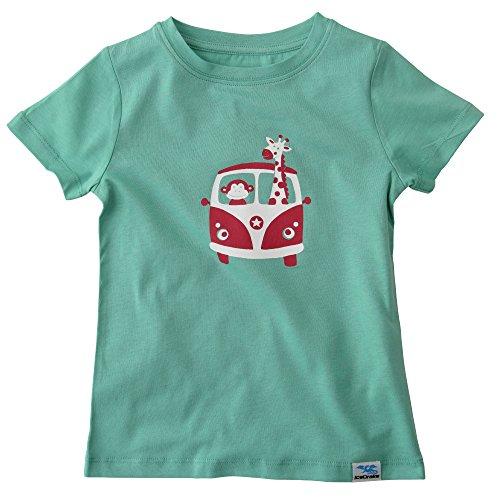 IceDrake Jungen Kurzarm T-Shirt mit Motiv Affe und Giraffe Mintgrün 74/80 -