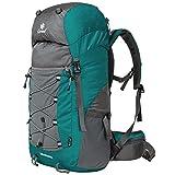 Coreal Damen und Herren Reise Wandern Rucksack trekkingrucksack 50L Atrovirens