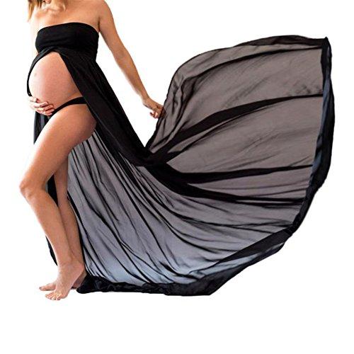 *xuanranUK Schwangere Frauen Fotografie Stützen, Schwanger Kleid Maternity Gown Split Front Foto Shoot Kleid, Mutterschaft Fotografie Kleidung Schwangerschafts Maxikleid Schwangerschafts Kleid*