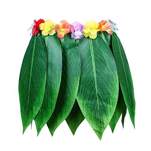 Partyrock, Hawaiianischer Hula-Girl, Kostüm, Grasrock, Blumen, Lei, Girlande, Hula-Rock mit Blumen, Hula-Rock, Blumen, Hawaiianischer Hula-Rock, 68 cm