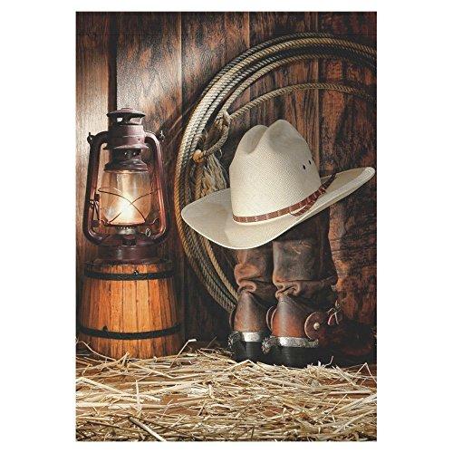 interestprint American Western Cowboy Lange Polyester HAUS GARTEN Flagge Banner 71,1x 101,6cm, Vintage Deko Flagge für Hochzeitstag/für Home Decor Outdoor Decor, Polyester, multi, 28x40