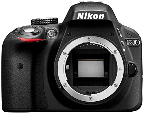 Nikon D3300 SLR-Digitalkamera (24 Megapixel, 7,6 cm (3 Zoll) TFT-LCD-Display, Live View, Full-HD) nur Gehäuse schwarz (Generalüberholt) (Nikon-digitalkamera-nur Gehäuse)