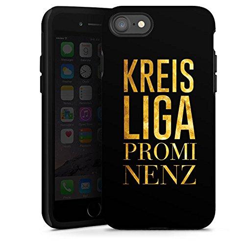 Apple iPhone X Silikon Hülle Case Schutzhülle Kreisliga Prominenz Fußball Sprüche Tough Case glänzend