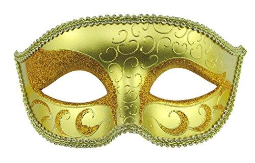 Masquerade Maske Halloween-Kostüm Cosplay Maske für Männer und Frauen gold