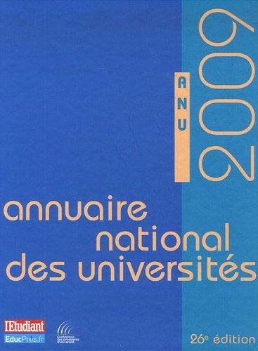 ANNUAIRE NATIONAL DES UNIVERSITES 2009