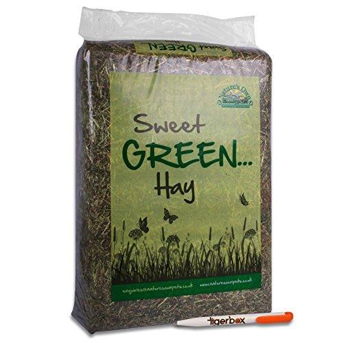 51gkB5WmDWL BEST BUY #13.5KG Natures Own Sweet Green Hay Pet Food Dust Extracted Animal Feed & Tigerbox Antibacterial Pen price Reviews uk