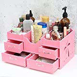 MMM Los estantes de acabado principal de Google Desktop cosmética caja de almacenamiento de cajones ( Color : Pink )