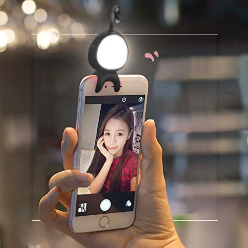 Almondcy Bluetooth LED Light @Almondcy 2 in 1 Wireless Bluetooth Remote Control LED Selfie Light Supplementary Lighting Night Selfie Enhancing for iPhone, Android Phone and Tablets (black)